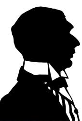 Сергей Судейкин. Силуэт работы Е. Кругликовой. 1916.